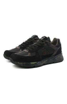 Мужские комбинированные кроссовки mase PREMIATA черного цвета, арт. MASE/VAR5013 | Фото 1