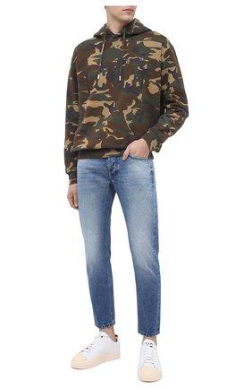Мужские кожаные кеды yuben low Y-3 белого цвета, арт. FX0565/M | Фото 2