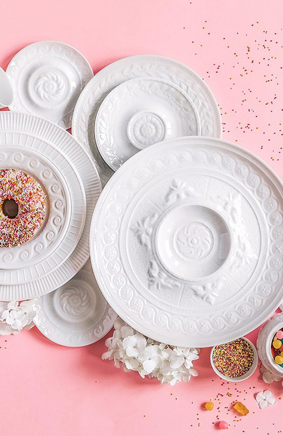 Мужского блюдо для торта louvre BERNARDAUD белого цвета, арт. 0542/121   Фото 4