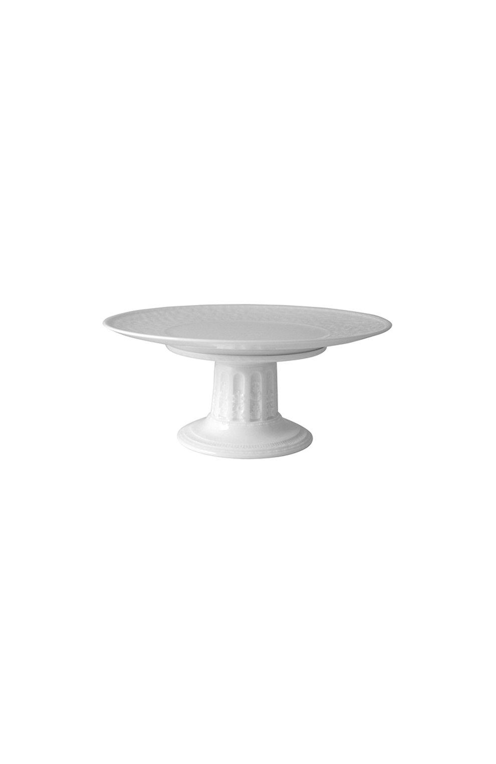 Мужского блюдо для торта на ножке louvre BERNARDAUD белого цвета, арт. 0542/20941 | Фото 1