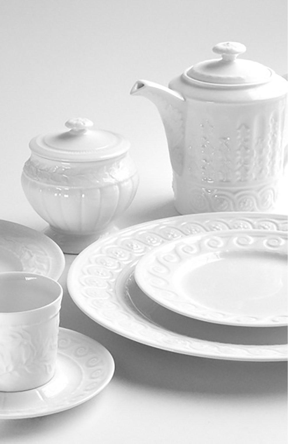 Мужского блюдо для торта на ножке louvre BERNARDAUD белого цвета, арт. 0542/20941 | Фото 2