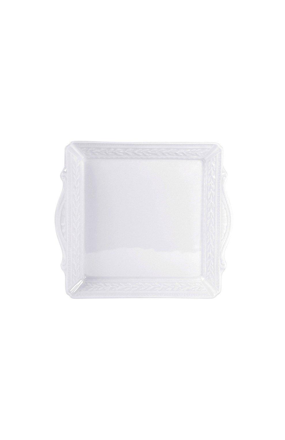 Мужского поднос с ручками louvre BERNARDAUD белого цвета, арт. 0542/6575 | Фото 1
