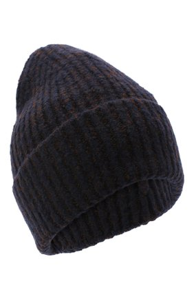 Женский шапка из шерсти и кашемира ACNE STUDIOS темно-синего цвета, арт. C40106/M | Фото 1