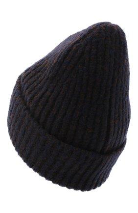Женский шапка из шерсти и кашемира ACNE STUDIOS темно-синего цвета, арт. C40106/M | Фото 2