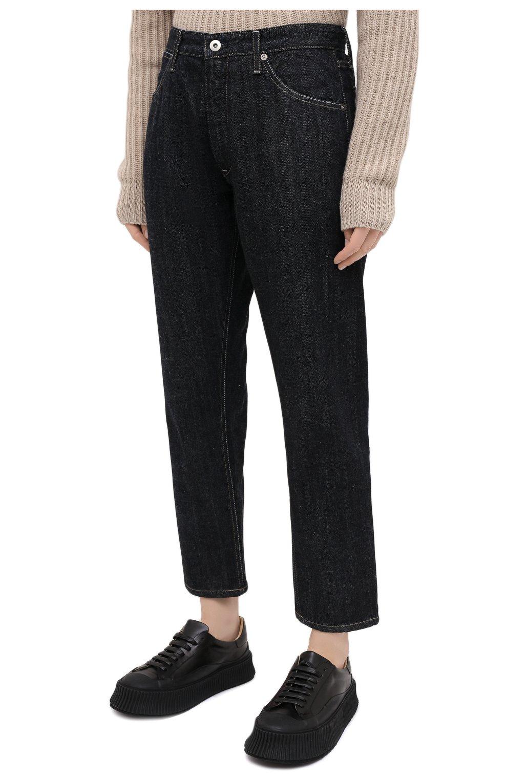 Женские джинсы JIL SANDER темно-синего цвета, арт. JPPR663107-WR246200   Фото 4