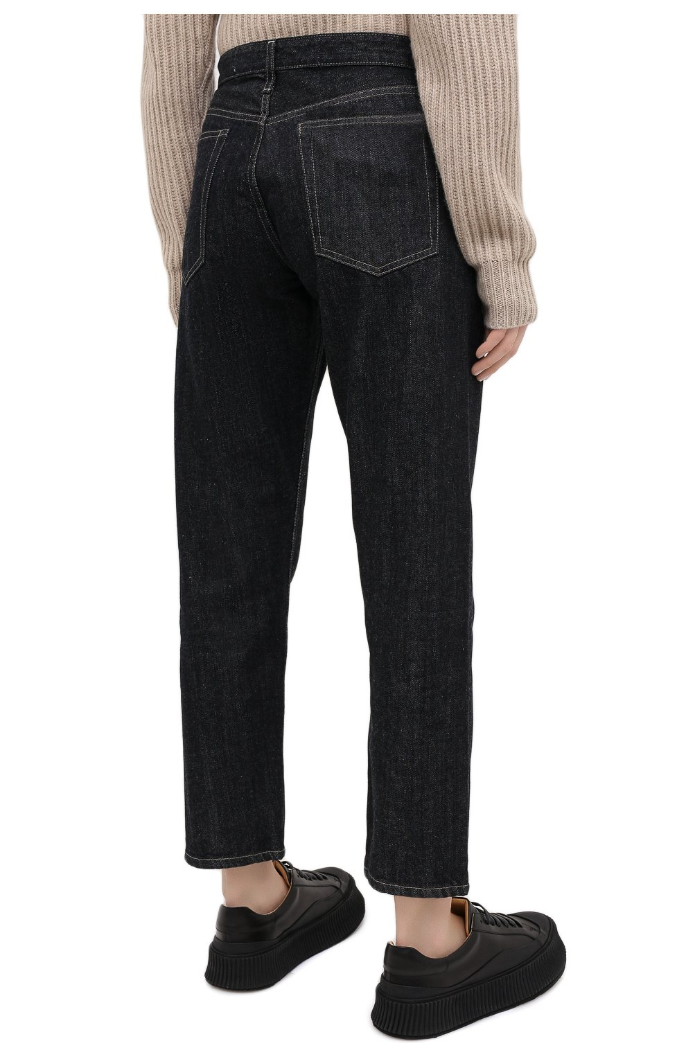 Женские джинсы JIL SANDER темно-синего цвета, арт. JPPR663107-WR246200   Фото 5