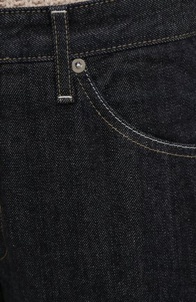 Женские джинсы JIL SANDER темно-синего цвета, арт. JPPR663107-WR246200   Фото 6