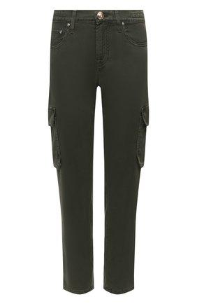 Женские брюки JACOB COHEN хаки цвета, арт. KIM 02161-V/54 | Фото 1