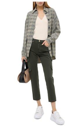 Женские брюки JACOB COHEN хаки цвета, арт. KIM 02161-V/54 | Фото 2