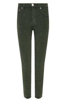 Женские вельветовые брюки JACOB COHEN хаки цвета, арт. KIMBERLY CR0P 01157-V/54 | Фото 1