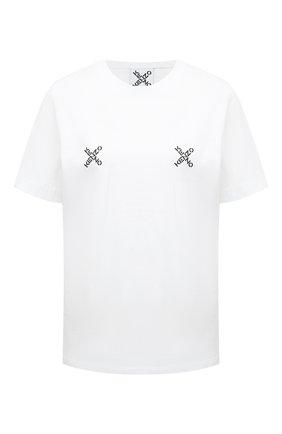 Женская хлопковая футболка kenzo sport KENZO белого цвета, арт. FA62TS9104SJ | Фото 1