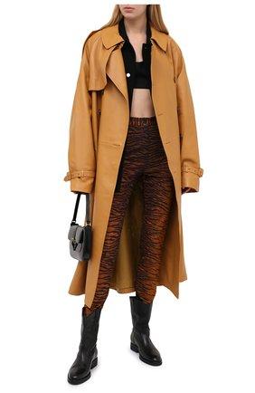 Женские брюки из вискозы KENZO коричневого цвета, арт. FA62PA7264SV | Фото 2