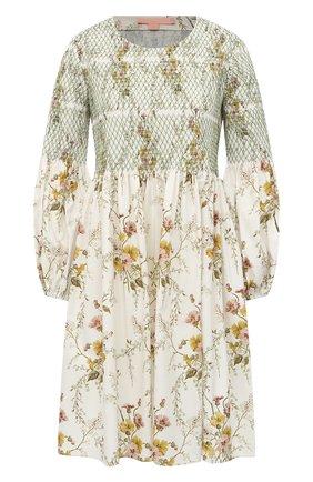 Женское хлопковое платье BROCK COLLECTION кремвого цвета, арт. BRPR5001R/BR075   Фото 1
