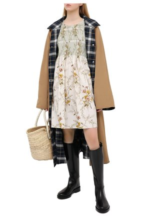 Женское хлопковое платье BROCK COLLECTION кремвого цвета, арт. BRPR5001R/BR075   Фото 2