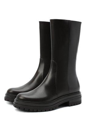 Женские кожаные сапоги martis GIANVITO ROSSI темно-коричневого цвета, арт. G73303.20G0M.VITM0KA   Фото 1