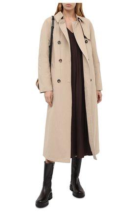 Женские кожаные сапоги martis GIANVITO ROSSI темно-коричневого цвета, арт. G73303.20G0M.VITM0KA   Фото 2