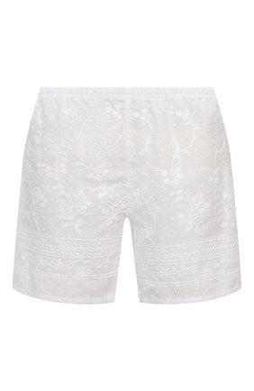 Женские хлопковые шорты EVA B.BITZER белого цвета, арт. 10311445 | Фото 1
