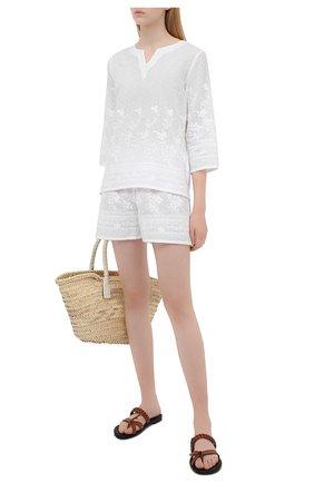 Женские хлопковые шорты EVA B.BITZER белого цвета, арт. 10311445 | Фото 2