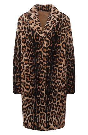 Женская шуба из овчины YVES SALOMON леопардового цвета, арт. 21WYM63794MERL   Фото 1