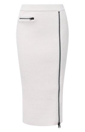 Женская шерстяная юбка TOM FORD белого цвета, арт. GCK081-YAX262 | Фото 1