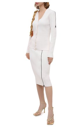 Женская шерстяная юбка TOM FORD белого цвета, арт. GCK081-YAX262 | Фото 2