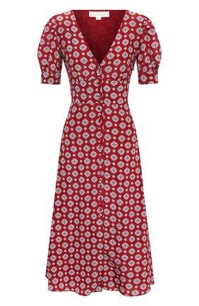 Женское шелковое платье MICHAEL MICHAEL KORS бордового цвета, арт. MU08ZK1EME | Фото 1