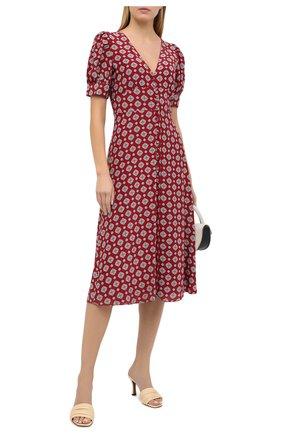 Женское шелковое платье MICHAEL MICHAEL KORS бордового цвета, арт. MU08ZK1EME | Фото 2