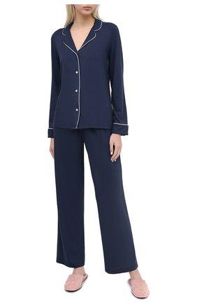 Женская пижама DEREK ROSE синего цвета, арт. 2033-LARA001 | Фото 1
