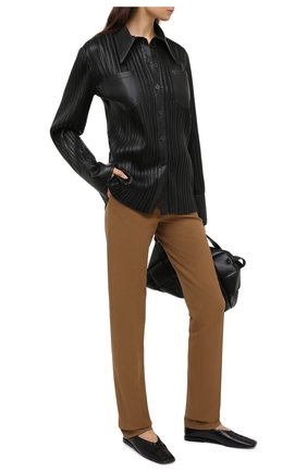 Женские брюки из вискозы и хлопка JOSEPH светло-коричневого цвета, арт. JP000971   Фото 2