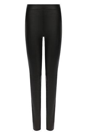 Женские кожаные леггинсы JOSEPH черного цвета, арт. JF005125 | Фото 1