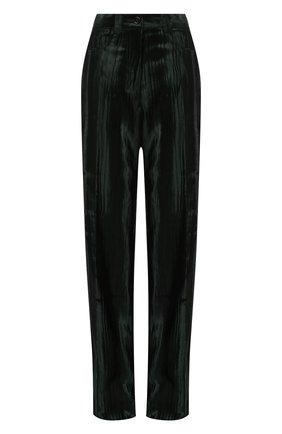 Женские брюки из вискозы и хлопка DRIES VAN NOTEN зеленого цвета, арт. 202-10925-1250 | Фото 1