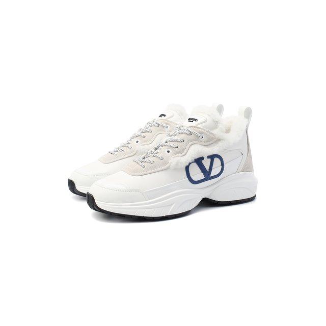 Кожаные кроссовки Valentino Garavani Shegoes Valentino