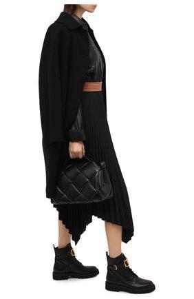 Женские кожаные ботинки valentino garavani vlogo VALENTINO черного цвета, арт. UW2S0Q03/BEK | Фото 2