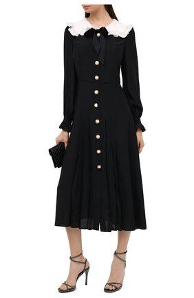 Женские кожаные босоножки up flair VALENTINO черного цвета, арт. UW2S0Z47/XTA | Фото 2