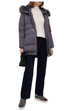 Женские кожаные кеды SANTONI темно-серого цвета, арт. WBWI60714BIAPMDYG62 | Фото 2