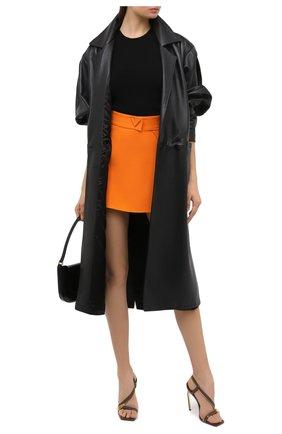 Женские кожаные босоножки VERSACE хаки цвета, арт. DST408P/DVTZP | Фото 2