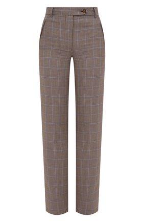 Женские шерстяные брюки BURBERRY серого цвета, арт. 8031298 | Фото 1