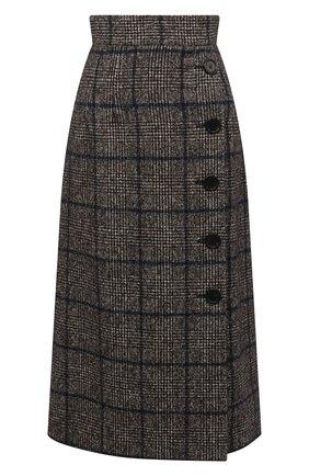 Женская юбка DOLCE & GABBANA серого цвета, арт. F4BYNT/FQMH7 | Фото 1