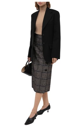 Женская юбка DOLCE & GABBANA серого цвета, арт. F4BYNT/FQMH7 | Фото 2