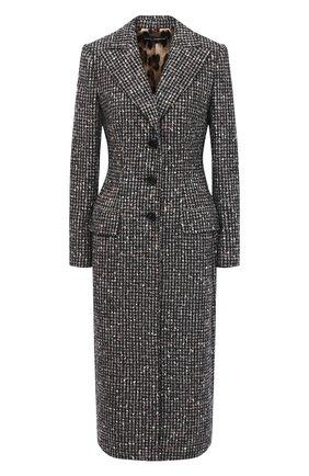 Женское шерстяное пальто DOLCE & GABBANA серого цвета, арт. F0AE0T/FMMF1 | Фото 1