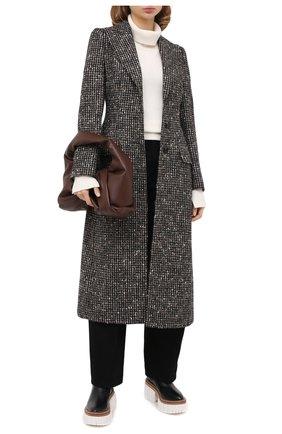 Женское шерстяное пальто DOLCE & GABBANA серого цвета, арт. F0AE0T/FMMF1 | Фото 2