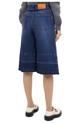 Женские джинсовые шорты STELLA MCCARTNEY синего цвета, арт. 601800/S0H01 | Фото 4 (Женское Кросс-КТ: Шорты-одежда; Кросс-КТ: Деним, Широкие; Материал внешний: Хлопок; Длина Ж (юбки, платья, шорты): Миди)