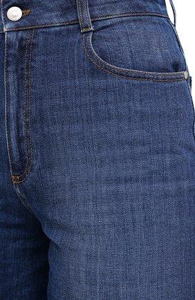 Женские джинсовые шорты STELLA MCCARTNEY синего цвета, арт. 601800/S0H01 | Фото 5 (Женское Кросс-КТ: Шорты-одежда; Кросс-КТ: Деним, Широкие; Материал внешний: Хлопок; Длина Ж (юбки, платья, шорты): Миди)