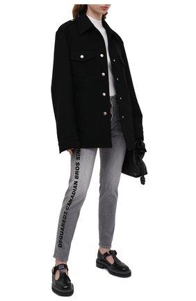 Женские джинсы DSQUARED2 светло-серого цвета, арт. S75LB0343/S30260   Фото 2