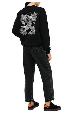 Женские замшевые кеды HERON PRESTON черного цвета, арт. HWIA021E20LEA0011022   Фото 2