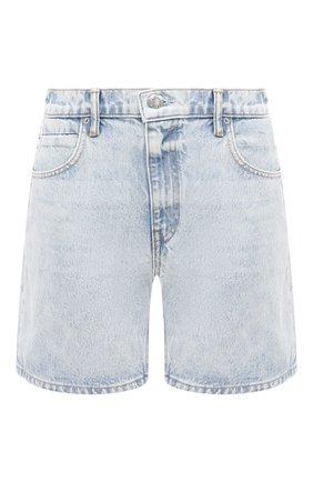 Женские джинсовые шорты DENIM X ALEXANDER WANG голубого цвета, арт. 4DC2204720 | Фото 1