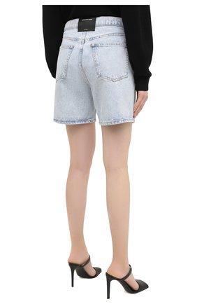Женские джинсовые шорты DENIM X ALEXANDER WANG голубого цвета, арт. 4DC2204720   Фото 4 (Женское Кросс-КТ: Шорты-одежда; Кросс-КТ: Деним; Длина Ж (юбки, платья, шорты): Мини; Материал внешний: Хлопок)