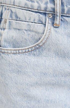 Женские джинсовые шорты DENIM X ALEXANDER WANG голубого цвета, арт. 4DC2204720   Фото 5 (Женское Кросс-КТ: Шорты-одежда; Кросс-КТ: Деним; Длина Ж (юбки, платья, шорты): Мини; Материал внешний: Хлопок)