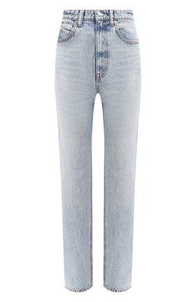 Женские джинсы DENIM X ALEXANDER WANG голубого цвета, арт. 4DC2204774 | Фото 1 (Кросс-КТ: Деним; Длина (брюки, джинсы): Стандартные; Материал внешний: Хлопок)