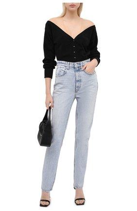 Женские джинсы DENIM X ALEXANDER WANG голубого цвета, арт. 4DC2204774 | Фото 2 (Кросс-КТ: Деним; Длина (брюки, джинсы): Стандартные; Материал внешний: Хлопок)